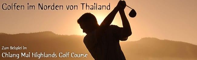 Golfen im Norden von Thailand